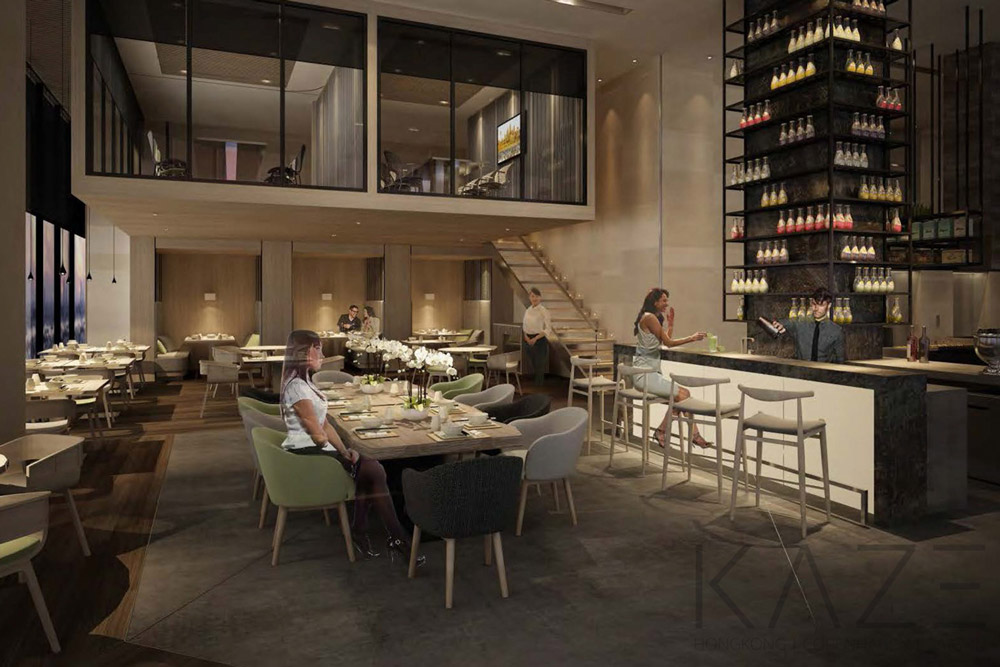 Bar interior design project by KAZE, Courtyard by Marriott Phnompenh