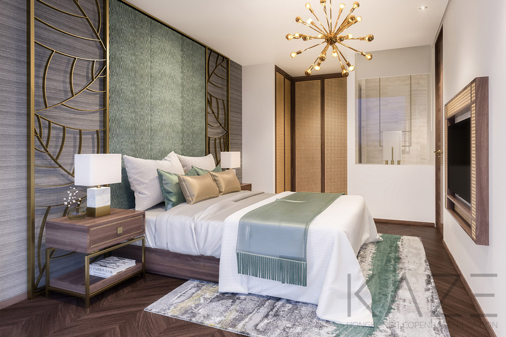 Villa interior design (bedroom)-Diamond Island HCMC