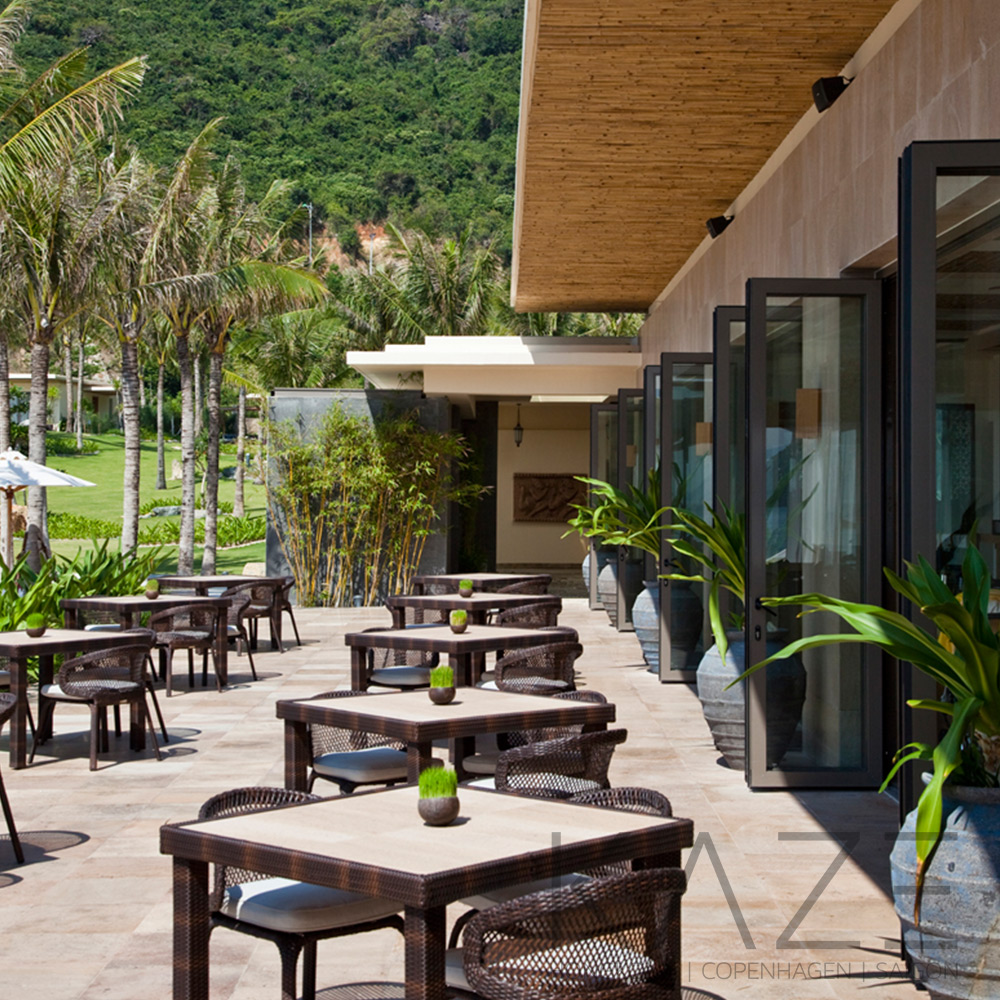MIA Resort Nha Trang, Outdoor cafe interior design project by KAZE